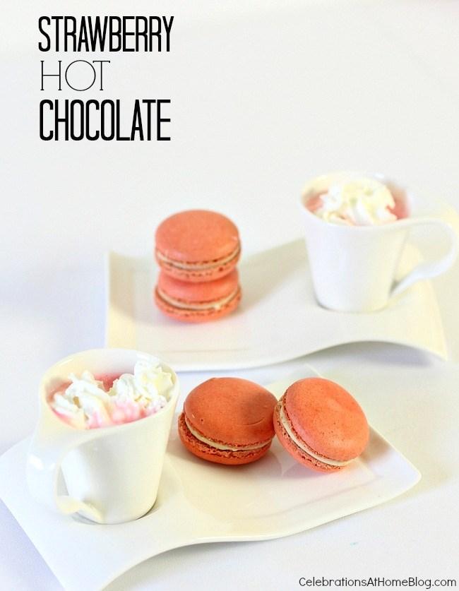 strawberry hot chocolate shots