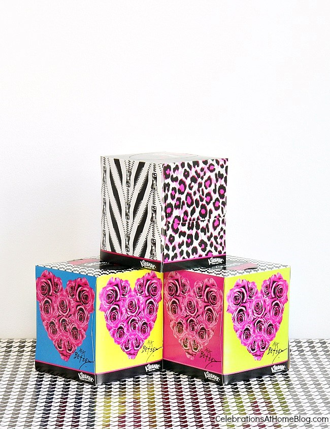 Betsey Johnson Kleenex boxes are inspiration for a dessert table