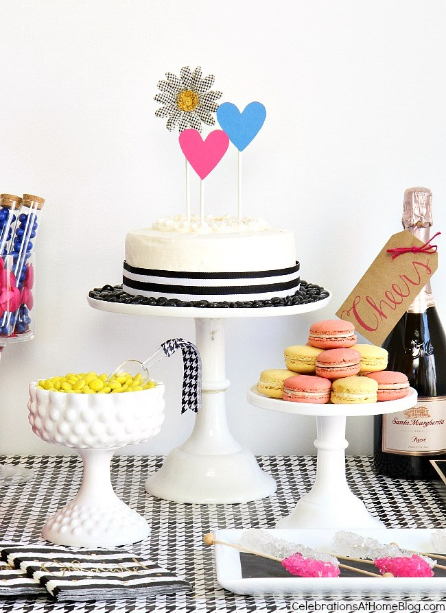 For your fashionista friends, design a Betsey Johnson inspired dessert table to celebrate a special occasion, like birthday or bridal shower. See how I did it here