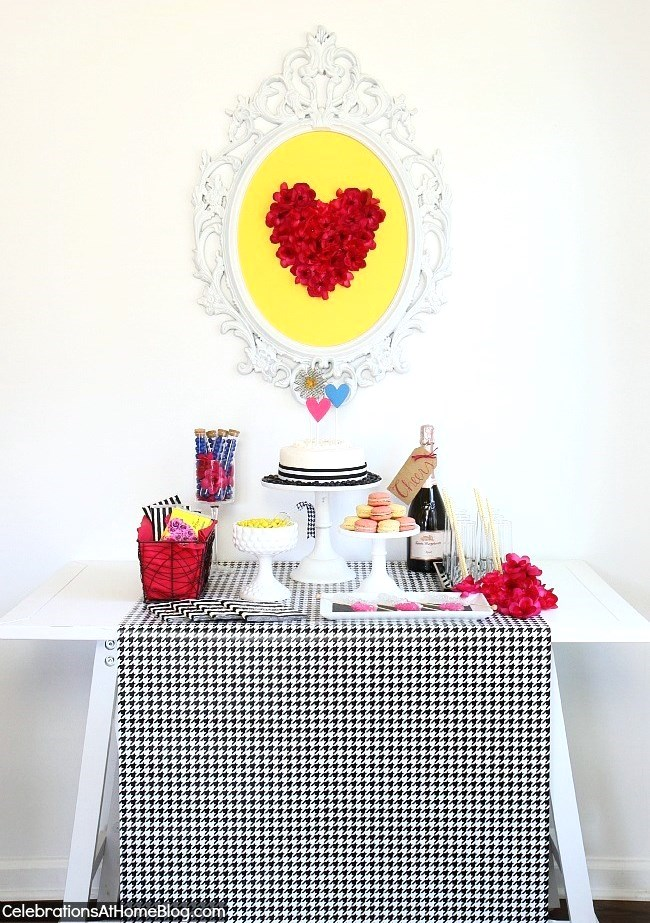 For your fashionista friends, design a Betsey Johnson inspired dessert table to celebrate a special occasion, like birthday or bridal shower. See how I did it here.