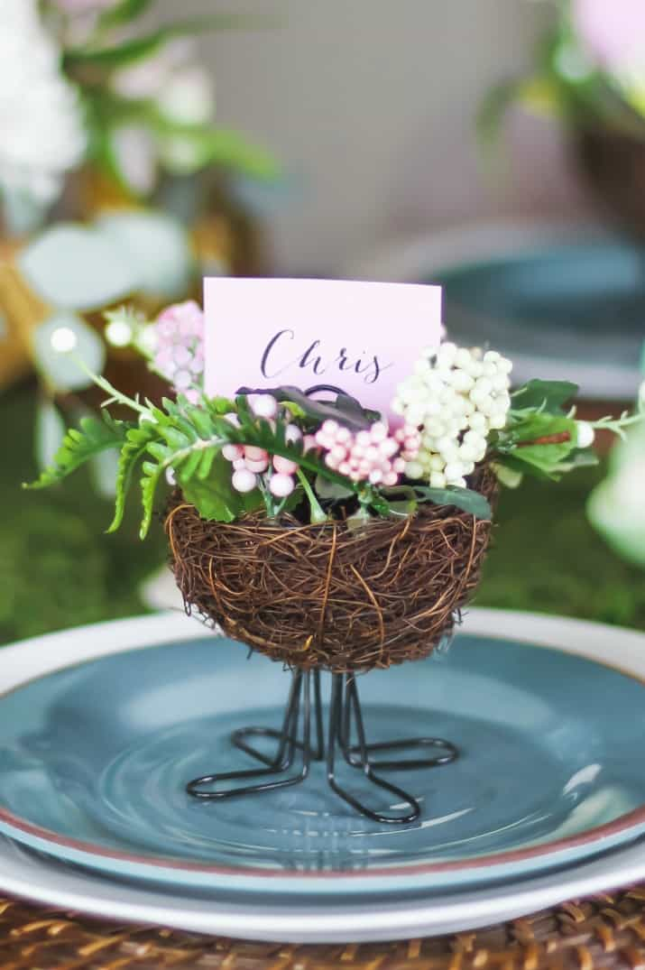 Easter table nest place card holder