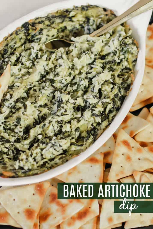 easy party appetizer dip - baked artichoke dip
