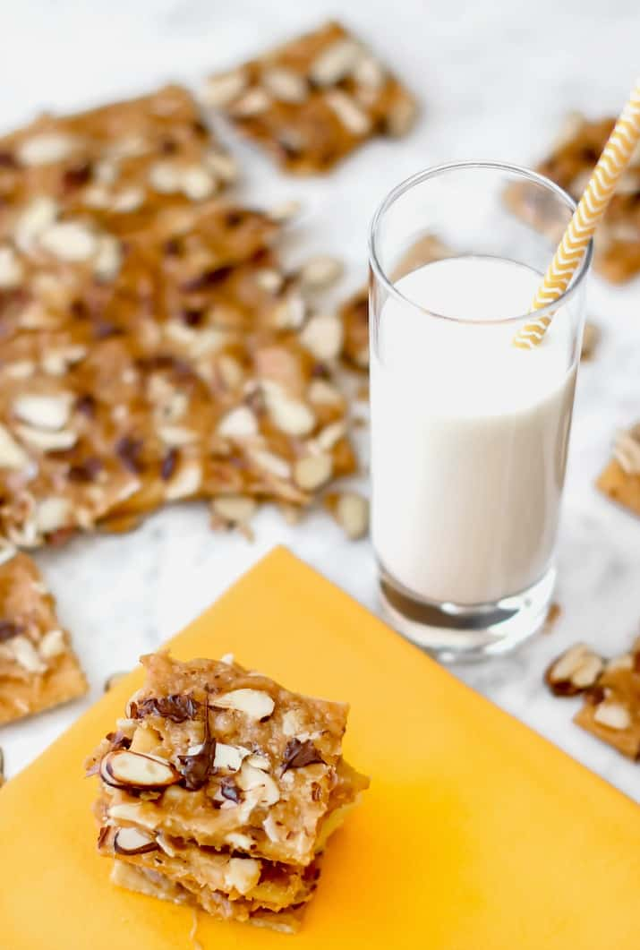 cracker treats with glass of milk