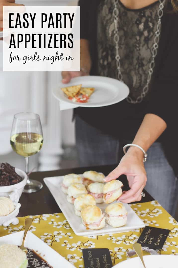 Easy party appetizers for girls night in; a list of delicious recipes