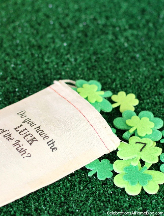 St. Patrick's day lucky 7 activity