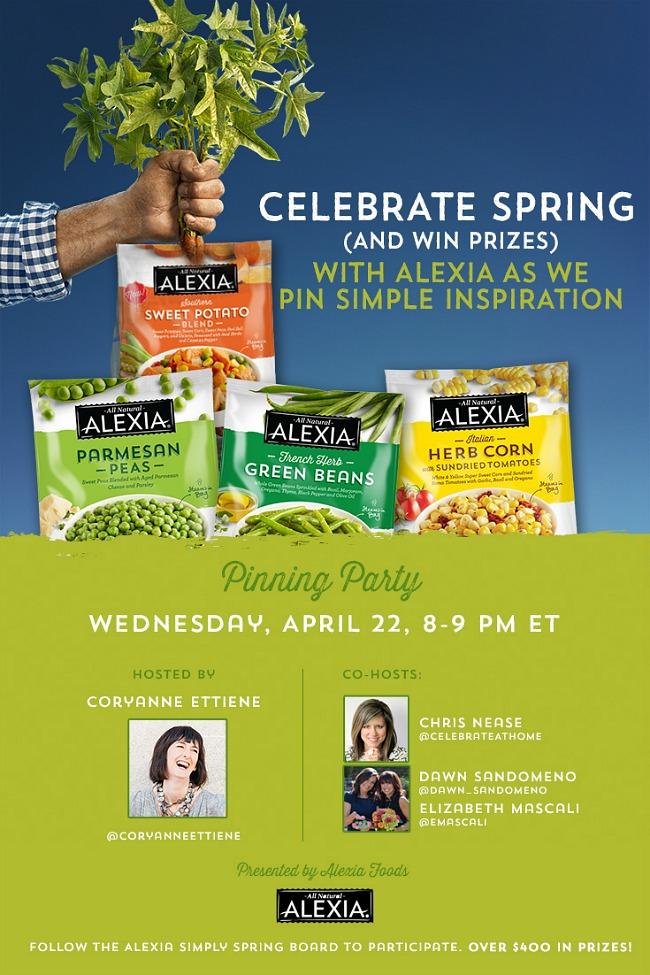 Spring pin party with Alexia foods #AlexiaSimplySpring