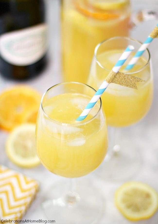 Make This Fizzy Citrus Sunshine Punch For A Baby Shower And Add Champagne  For A More