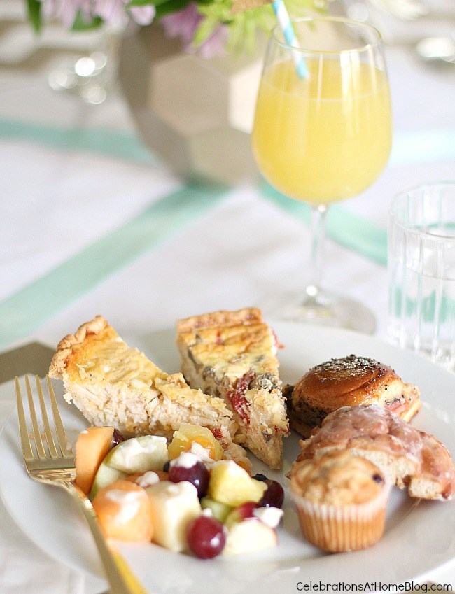 baby shower sip and see brunch menu
