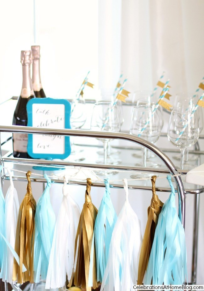 baby shower sip and see drink cart