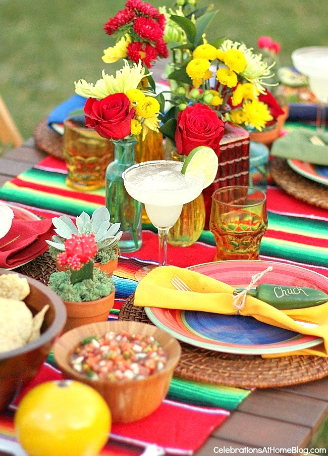 Mexican fiesta party ideas for cinco de mayo celebrations at home - Cinco de mayo party decoration ideas ...