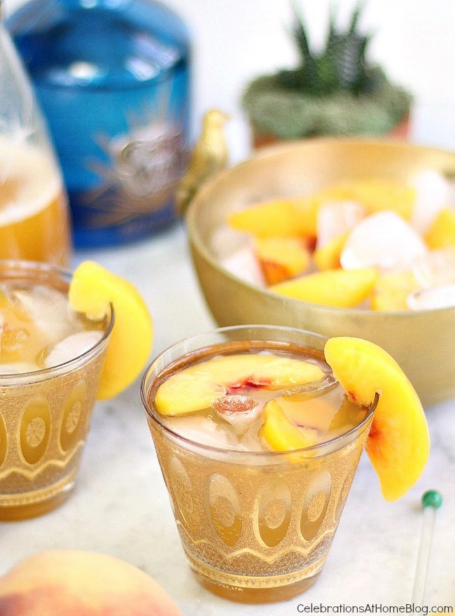 A sparkling peach margarita is a delightful departure from the classic flavor.Serve it for Cinco de Mayo and all summer long. Get the recipe here.