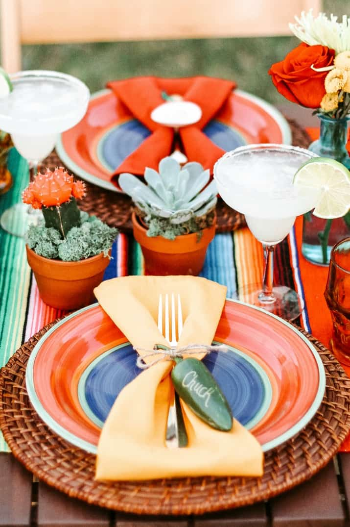 Mexican tablescape decorations