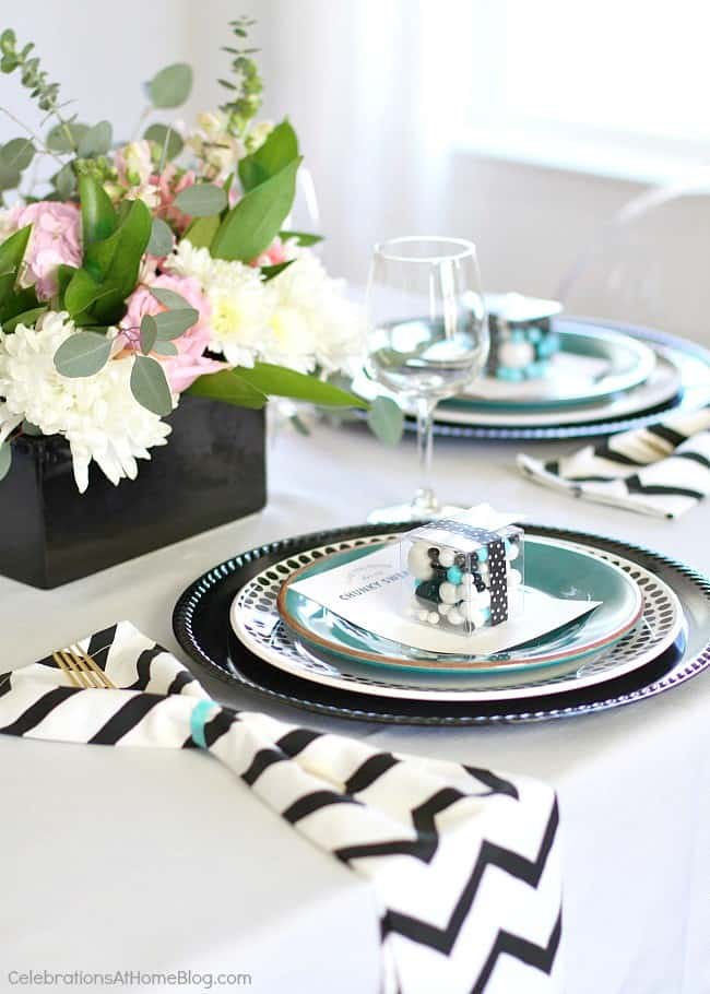 modern table setting for girls-night-in will set the scene for fun .