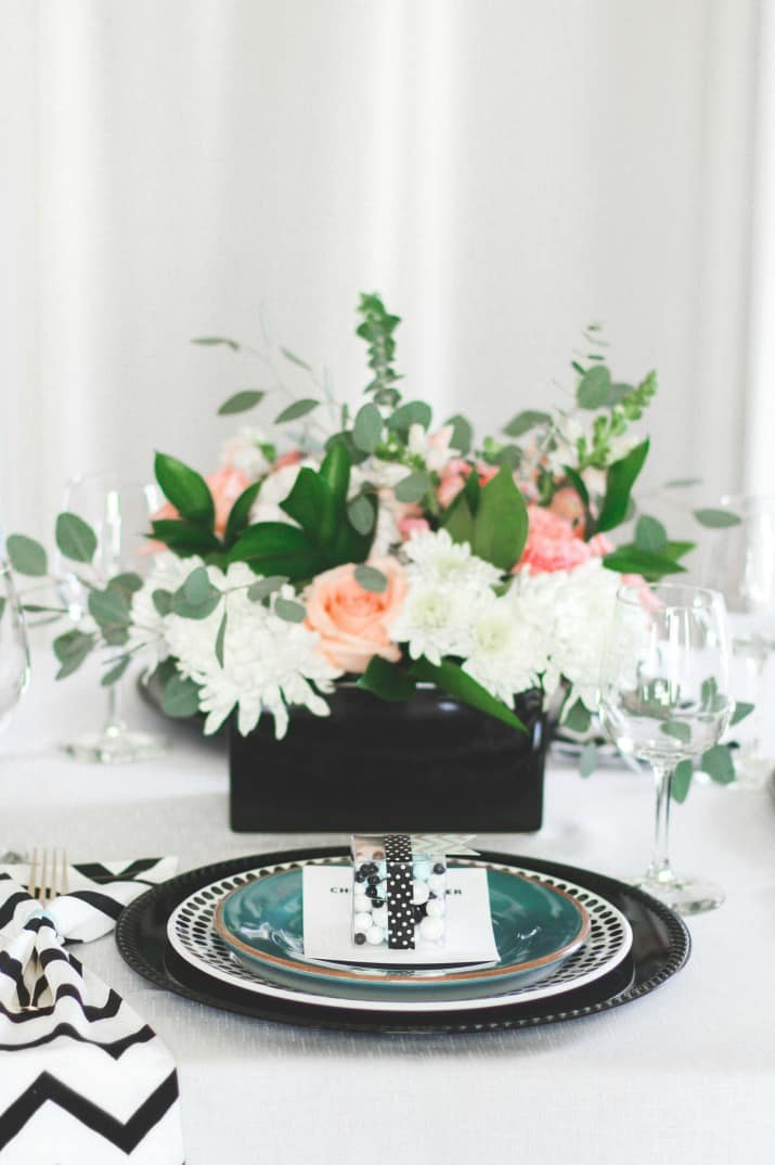 modern tablescape for girls night in