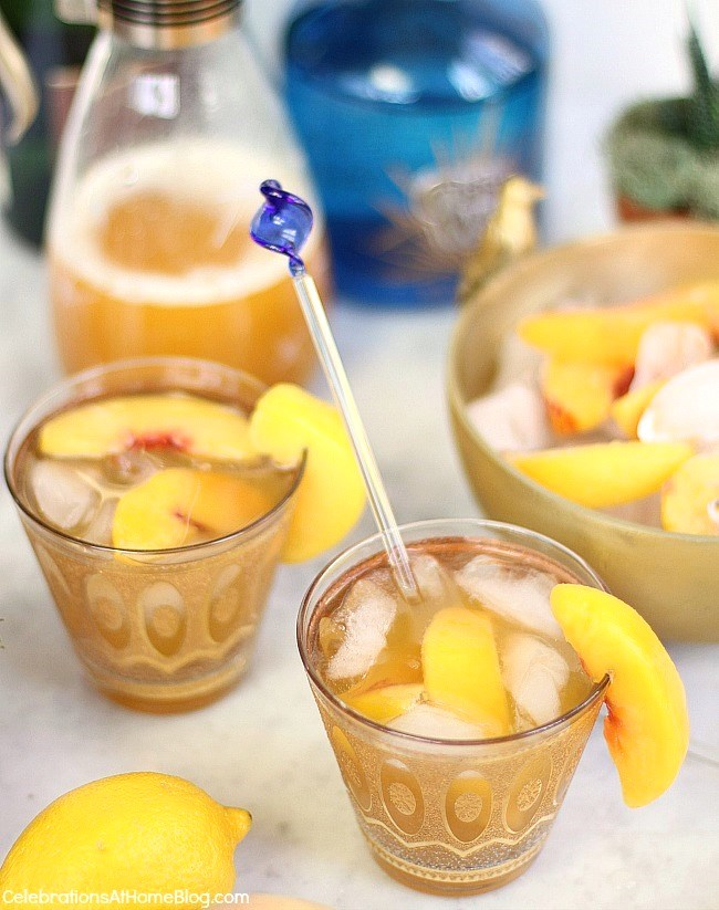 Try this sparkling peach margarita for a delicious twist on the classic.