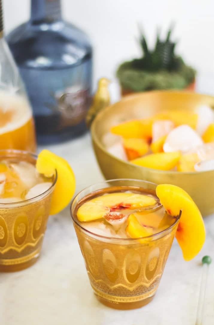 sparkling peach margarita
