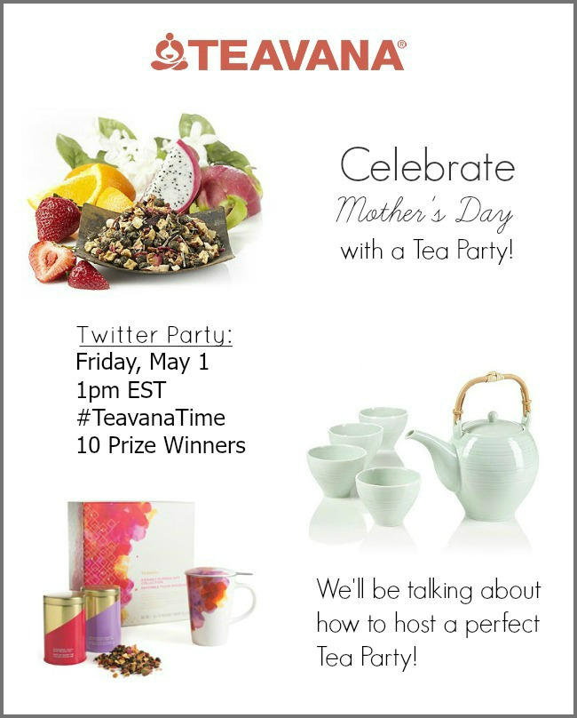 Join our Teavana Twitter chat to find out how to host the perfect tea party for Mother's Day.