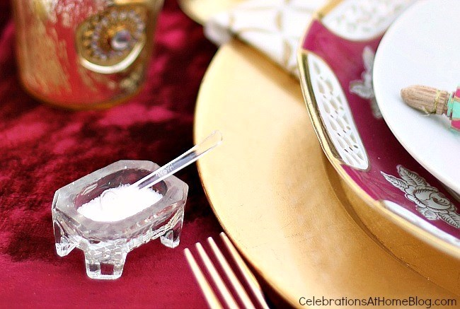 Vintage salt cellars, Moroccan inspired party