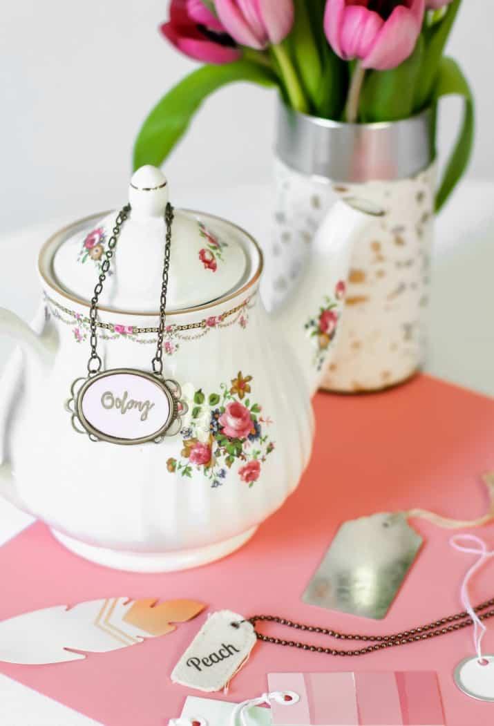 DIY teapot label tags