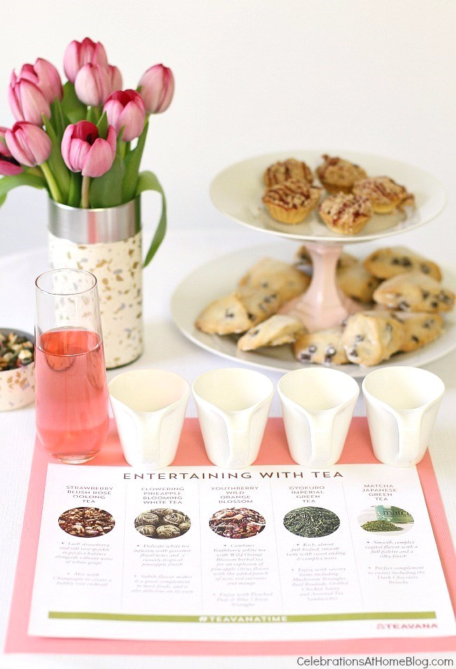 host a tea tasting with a flight of teas