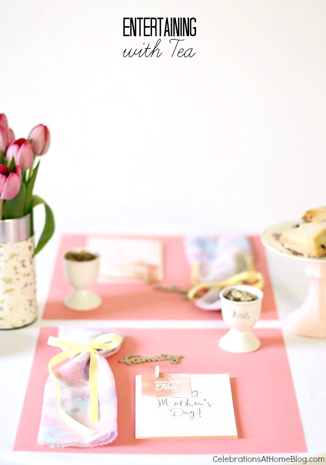 I'm sharing so many tips, and diy's for entertaining with Tea. Perfect for mother's day, bridal showers, or any get-together with the girls