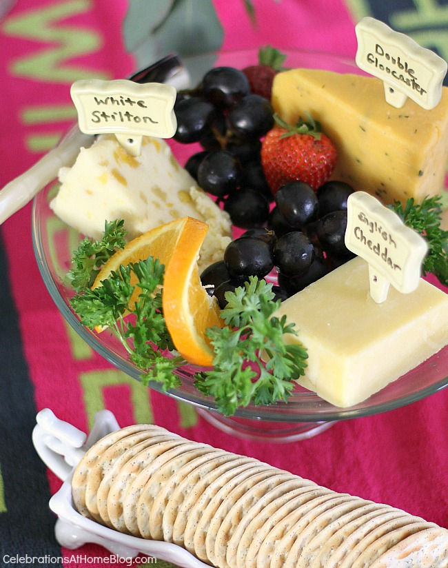 English cheeses for a Wimbledon brunch