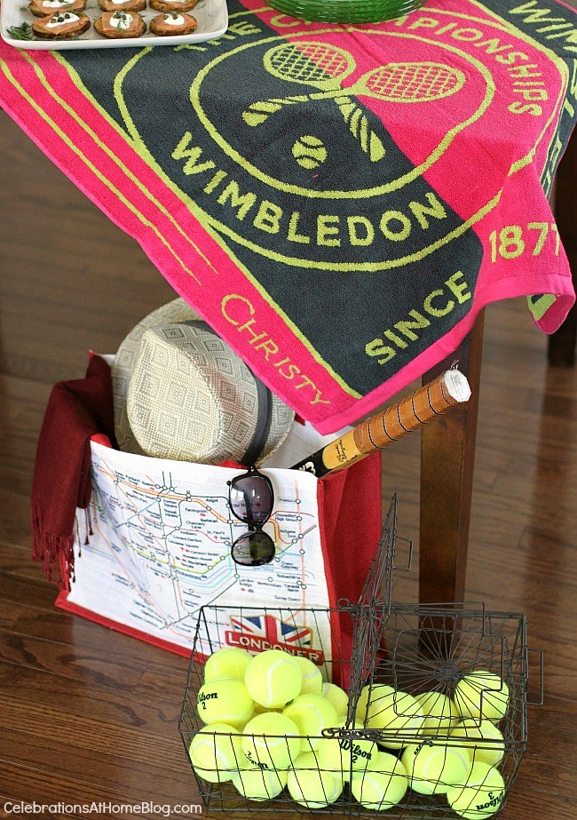 How to host a Wimbledon brunch party; tennis party ideas