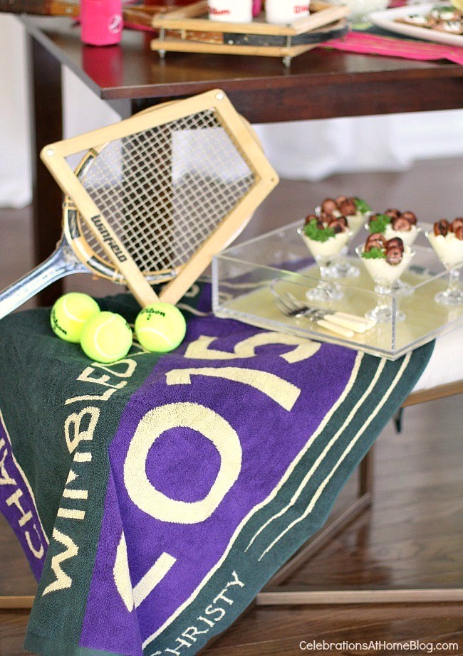How to host a Wimbledon brunch party; tennis party ideas.