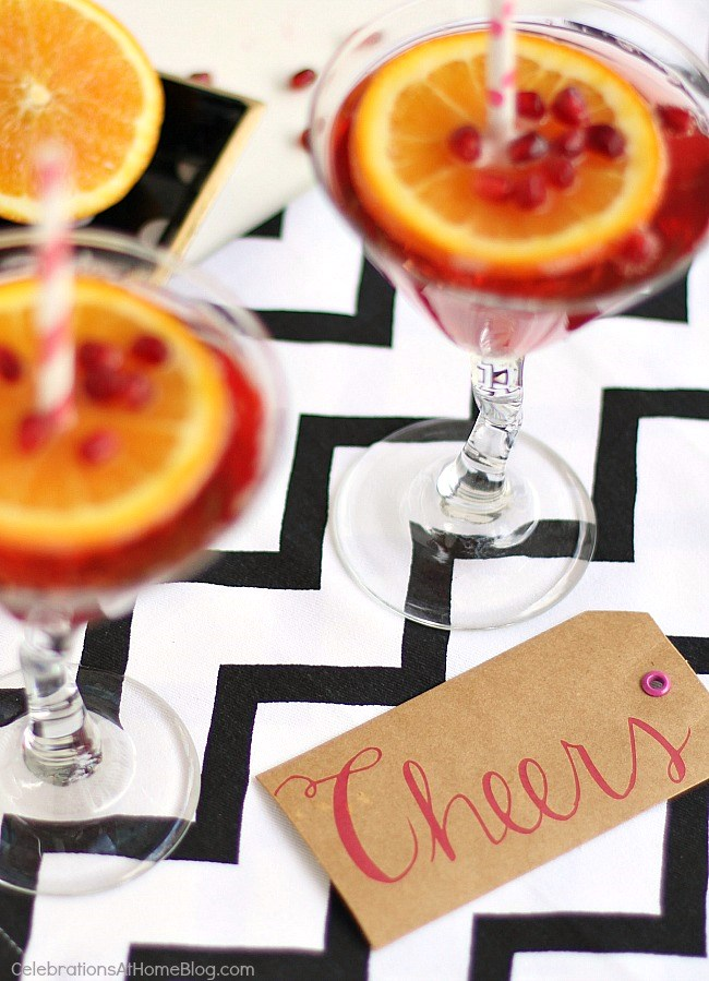 Cheers! to this pomegranate sparkling martini!