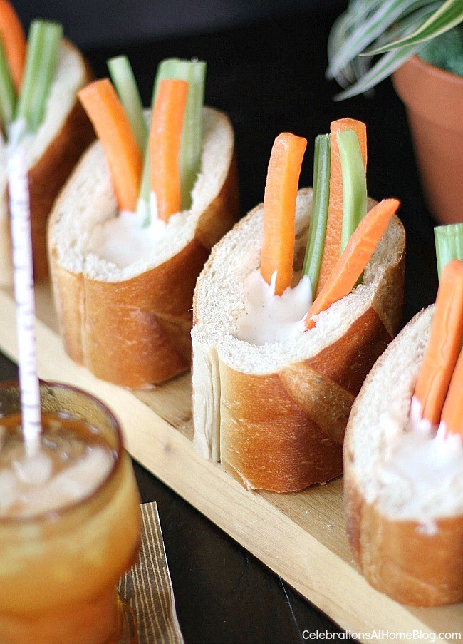 9 simple ideas to dress up food for entertaining - make veggie cups with bread.