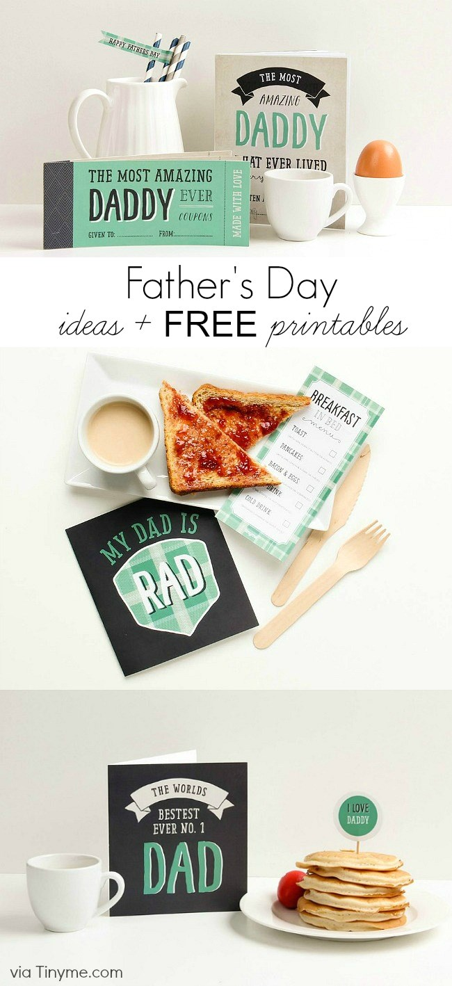 Get these fun Fathers day ideas & Free Printables here.