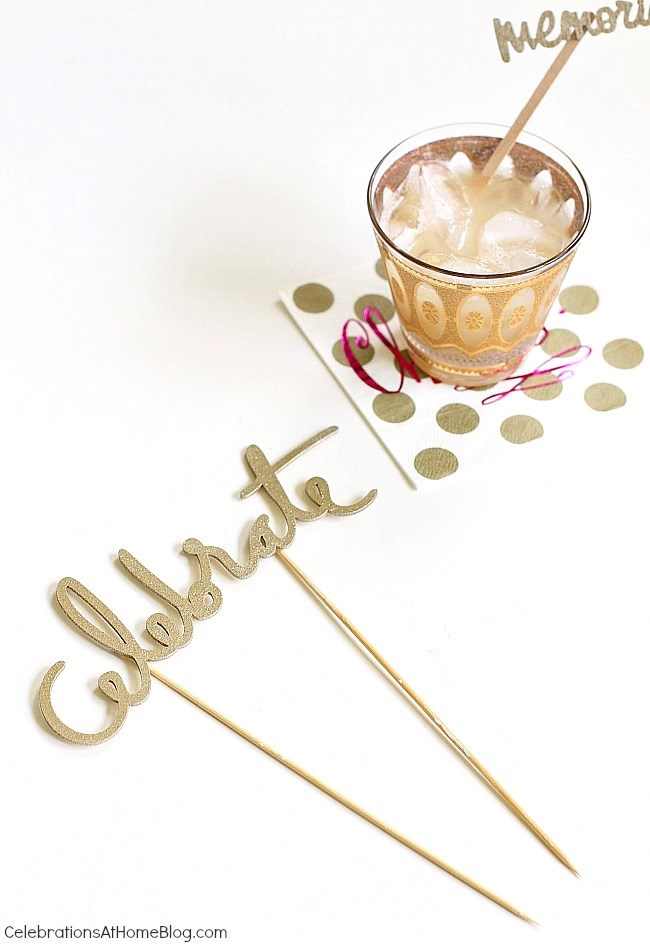 Follow the trend of incorporating laser cut accents into your party table with this easy DIY version. See it here.