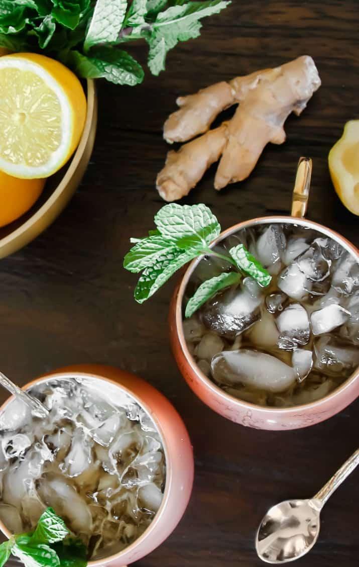 Bourbon iced tea cocktail