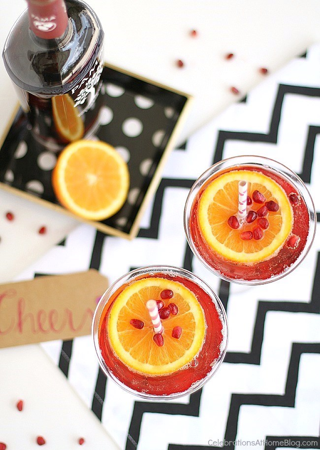 The hour just got happier with this pomegranate sparkling martini. Get the recipe here.