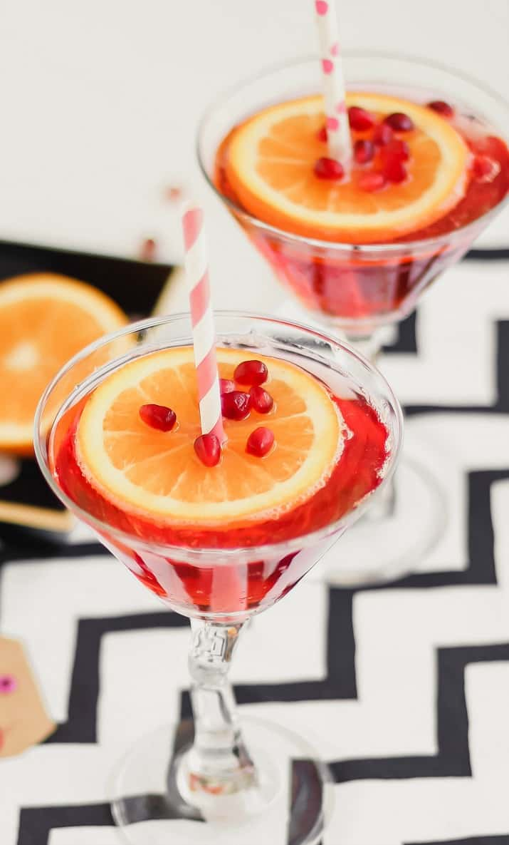 pomegranate sparkling martini