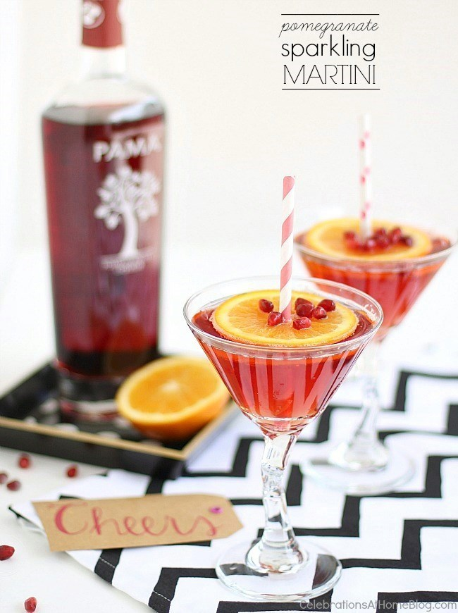The hour just got happier with this PAMA pomegranate sparkling martini. Get the recipe here.
