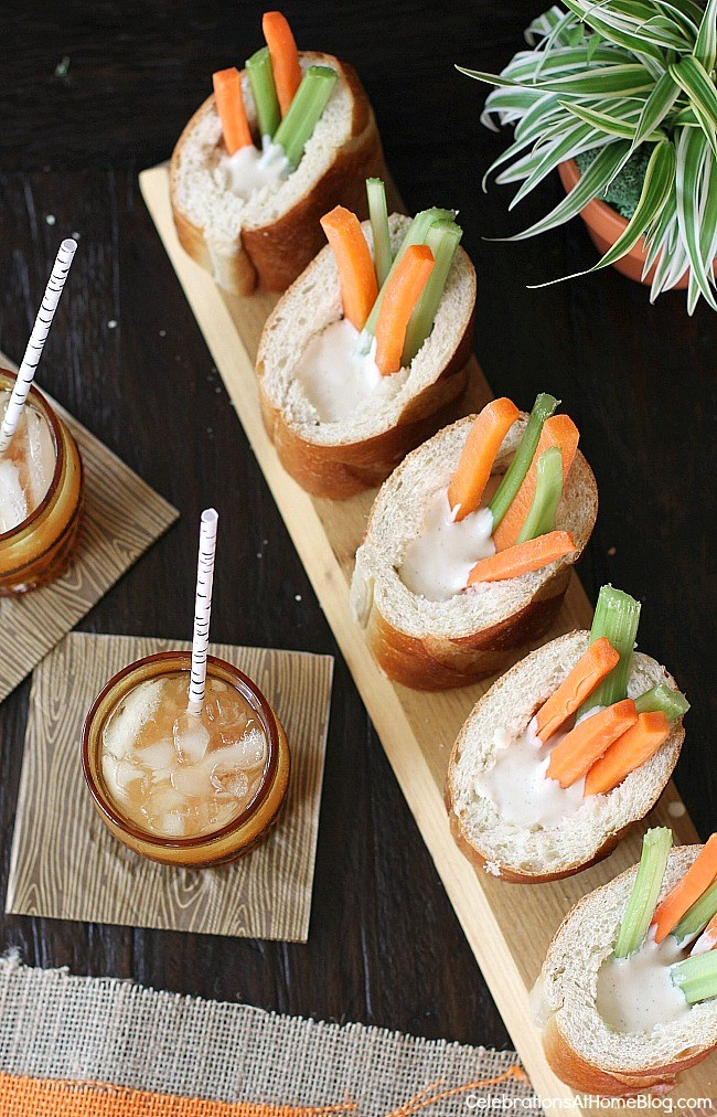Make these veggie dip bread cups for entertaining guests.