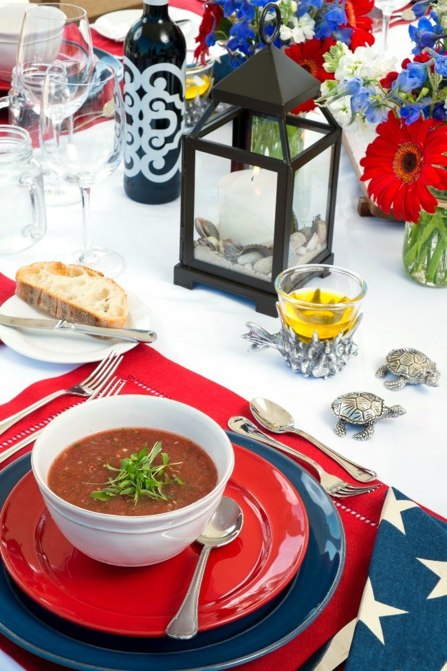 Get this Watermelon Gazpacho recipe here, from the book Hamptons Entertaining by Annie Falk