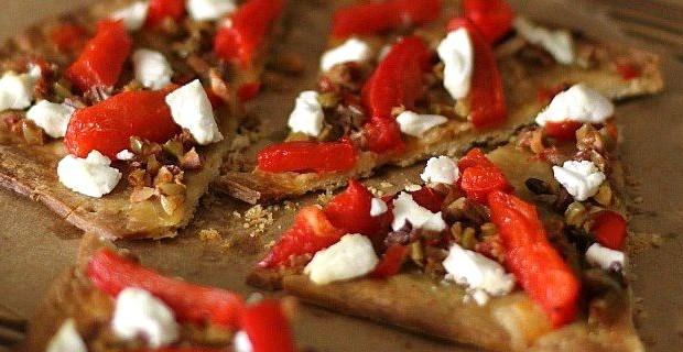 Olive Tapenade Flatbread Appetizer