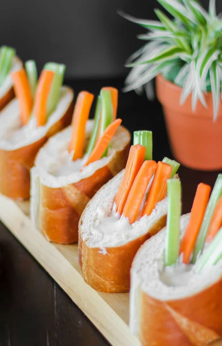 Veggie Dip Bread Cups Party Appetizers