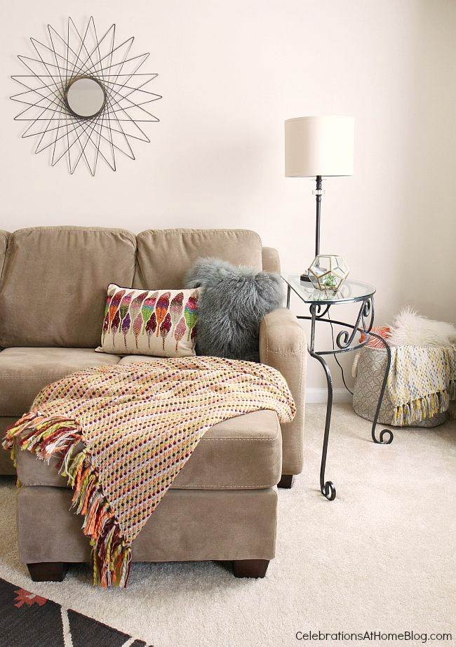 On-trend boho-chic updates make this bonus room decor cozy and inviting for the whole family.