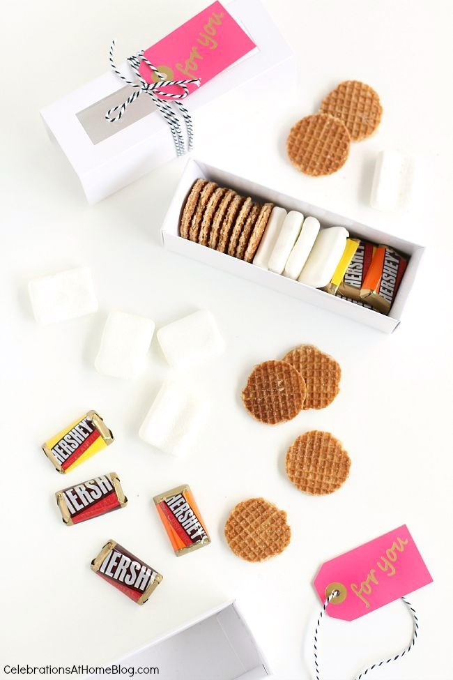 Make s'mores kit favors but with a twist. Tips here.