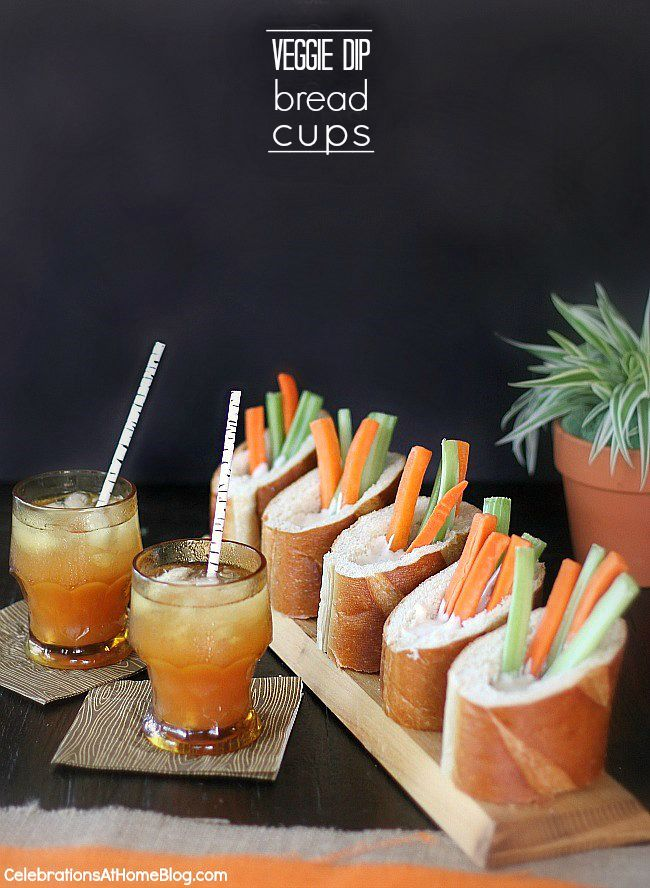 Make these veggie dip bread cups for entertaining guests and eliminate double dipping from a group bowl!