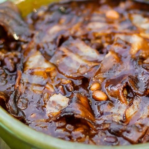 sweet and spicy baked beans recipe with bacon