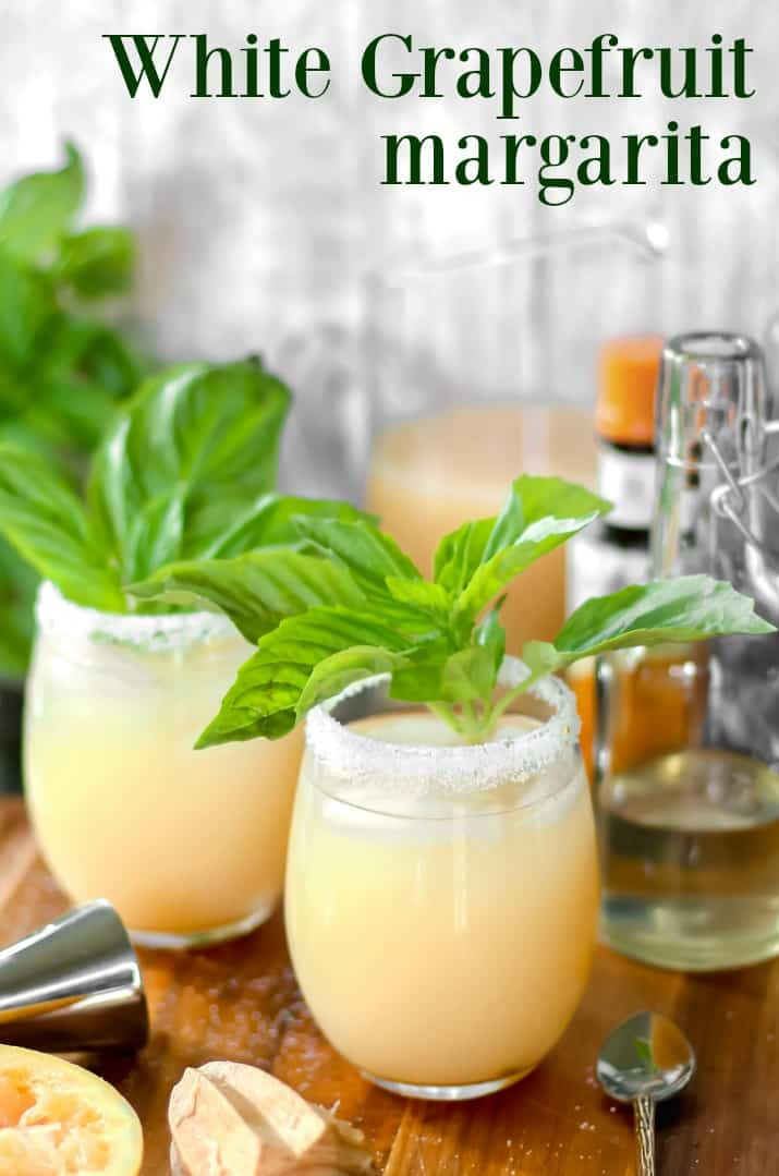 margarita recipe with basil simple syrup