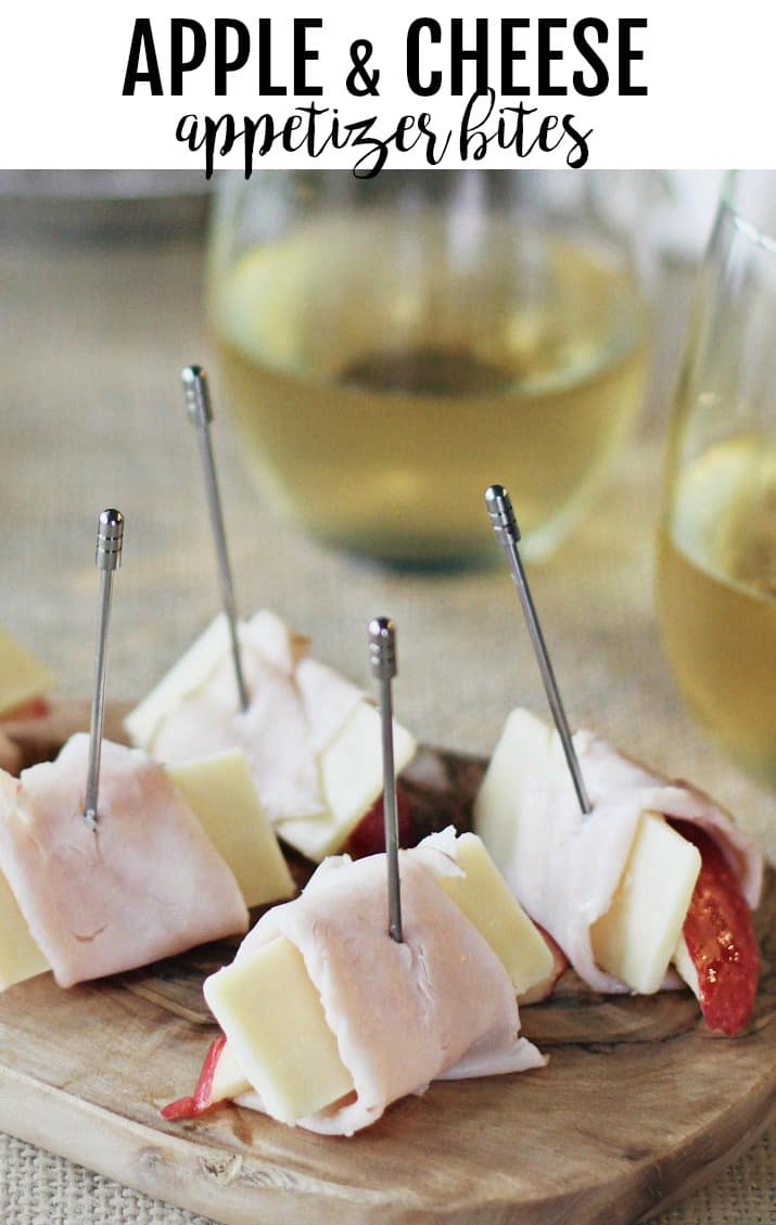 turkey wrapped apple & cheese appetizer bites
