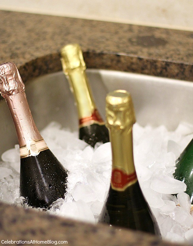 Follow these 6 steps to prep your home for holiday entertaining, plus an entertaining tip for each one, here. - chill bottles in the sink