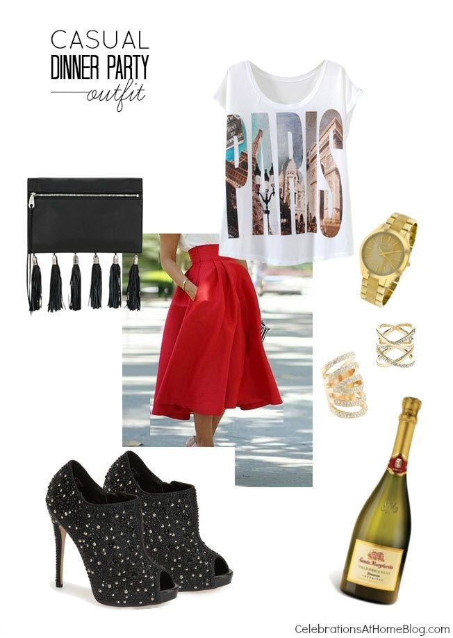 A fun casual dinner party outfit that's just my style. A little edgy and a little feminine equal a lot of style.