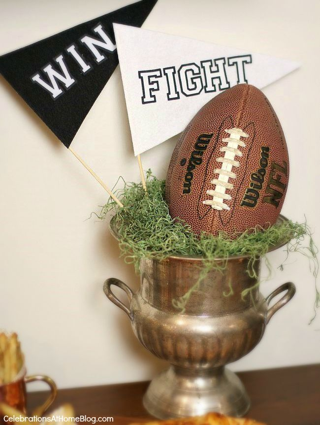 Host a stress free football party, or homegating party with these tips and inspirational images.