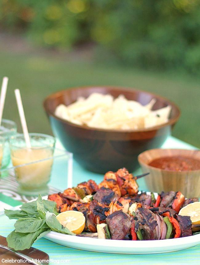 summer party food buffet